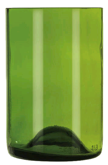 Libbey 97287 12 oz Green Repurposed Wine Bottle Tumbler
