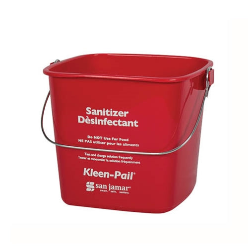 6Qt Red Sanitizer Pail