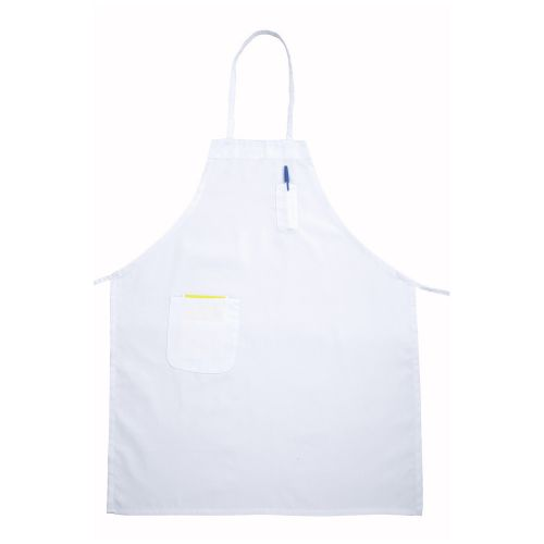 Two Pocket Bib Apron - White