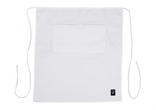 Two Pocket Waist Apron - White