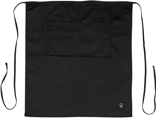 Two Pocket Waist Apron - Black