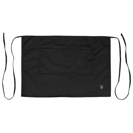 Half Length Waist Apron - Black
