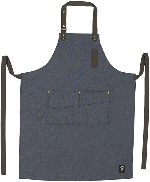 Eight Pocket Bib Apron - Blue