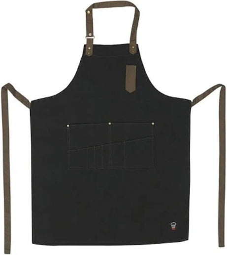 Eight Pocket Bib Apron - Black