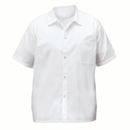 White Cook Shirt w/ Snap Button - Large