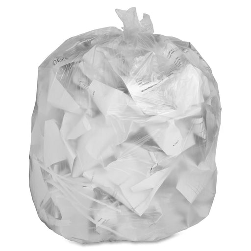"20""x22"" Clear Garbage Bags 500 pack"