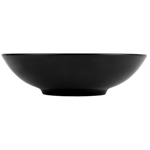 Onieda 8oz pedestal bowl black leather