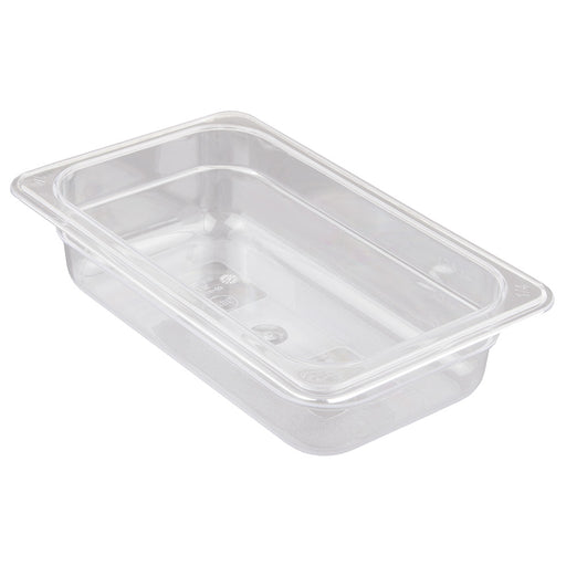 "1/4 Size 2.5"" Deep Clear Cold Food Pan"