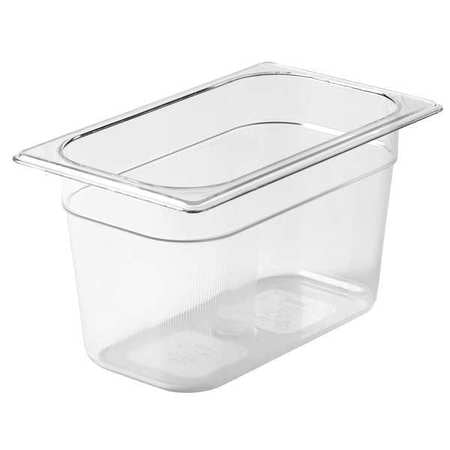 "1/4 Size 6"" Deep Clear Cold Food Pan"