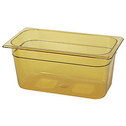"1/3 Size 6"" Deep Amber Hot Food Pan"