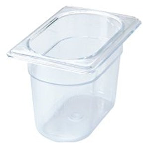 "1/9 Size 4"" Deep Clear Cold Food Pan"