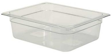 "1/2 Size 4"" Deep Clear Cold Food Pan"