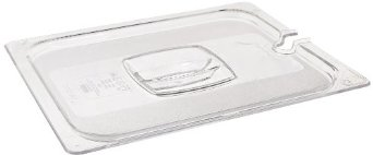 1/2 Size Clear Notched Cold Food Pan Cover