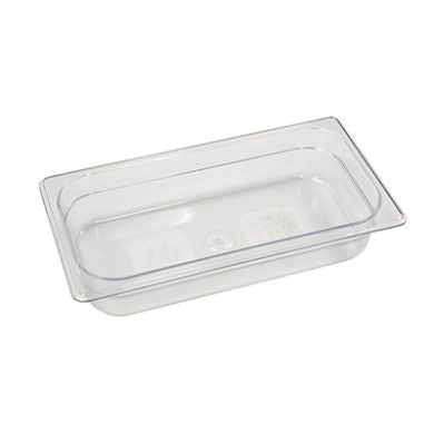 "1/3 Size 2.5"" Deep Clear Cold Food Pan"