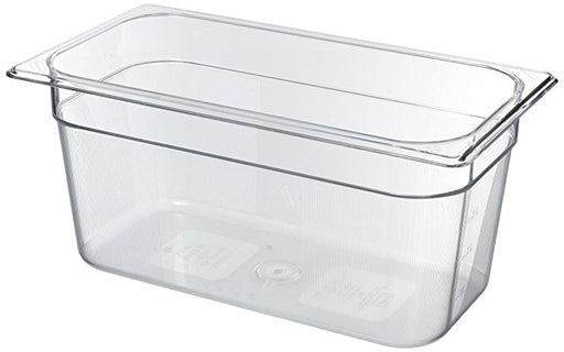 "1/3 Size 6"" Deep Clear Cold Food Pan"