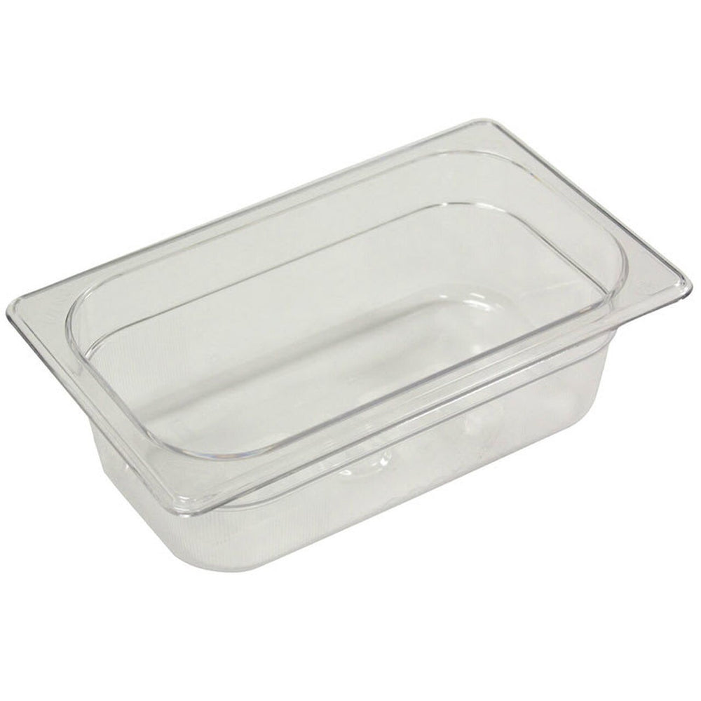 "1/9 Size 2.5"" Deep Clear Cold Food Pan"