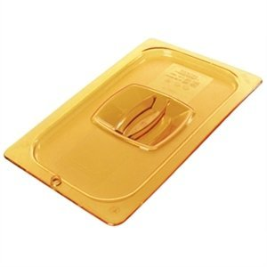 1/3 Size Amber Solid Hot Food Pan Cover
