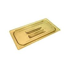 1/3 Size Solid High Heat Food Pan Cover Amber