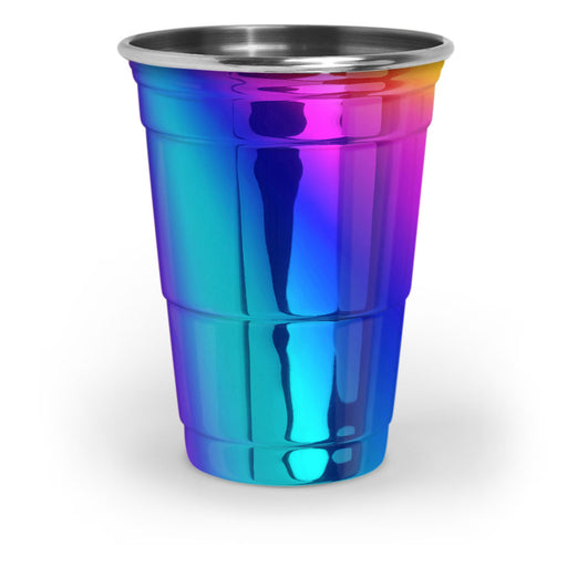 16oz Rainbow Steel Party Cup