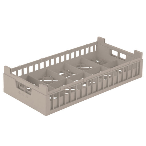 "Vollrath 52806 Signature Half-Size Beige 10 Compartment 4 1/8"" Tall Cup Rack"