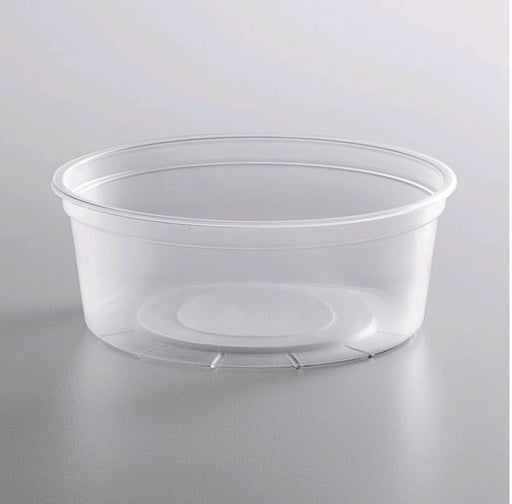 DE108H Microwavable Translucent Plastic 8oz Takeout Container - 500/Case