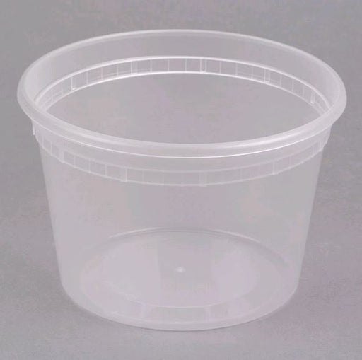 DE116H Microwavable Translucent Plastic 16oz Takeout Container - 500/Case