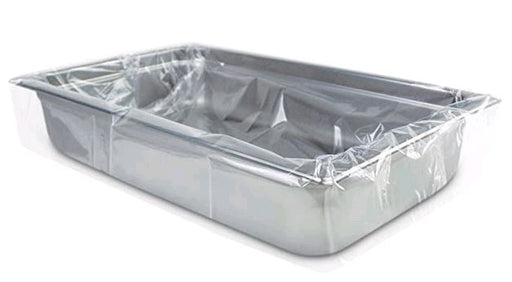 PanSaver Clear 42001 Shallow/Medium Ovenable Pan Disposable Liner Fits Full Size Pans
