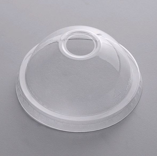 "CUPLCDH1624 CLEAR 12-24OZ DOME LID WITH 1"" HOLE"