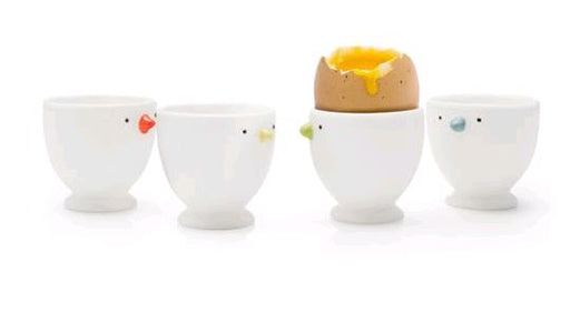 BIA Chick Eggs Cups 984151GWH set of 4