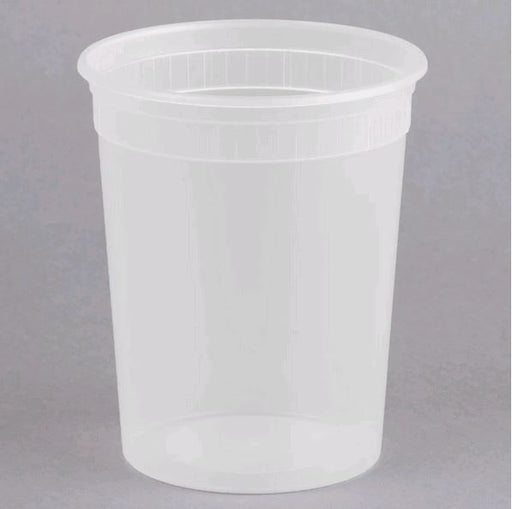 DE132H Microwavable Translucent Plastic 32oz Takeout Container - 500/Case
