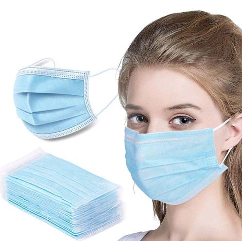 Disposable 3-Ply Protective Face Mask with Ear Loops