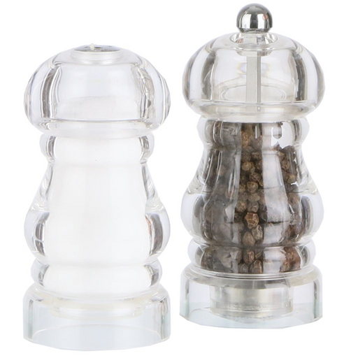 "Chef Specialties 5"" Laurel Pepper Mill & Salt Shaker Set"