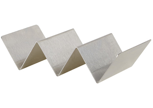 "Taco holder  2 -3 slot 8-3/8"" X 4""X2""  stainless steel"