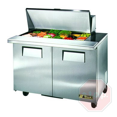 "True TSSU-48-18M-B-HC 48"" Sandwich/Salad Prep Table w/ Refrigerated Base"