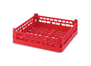 "Vollrath 52670 Signature Full-Size Red 4 1/8"" Short Open Rack"