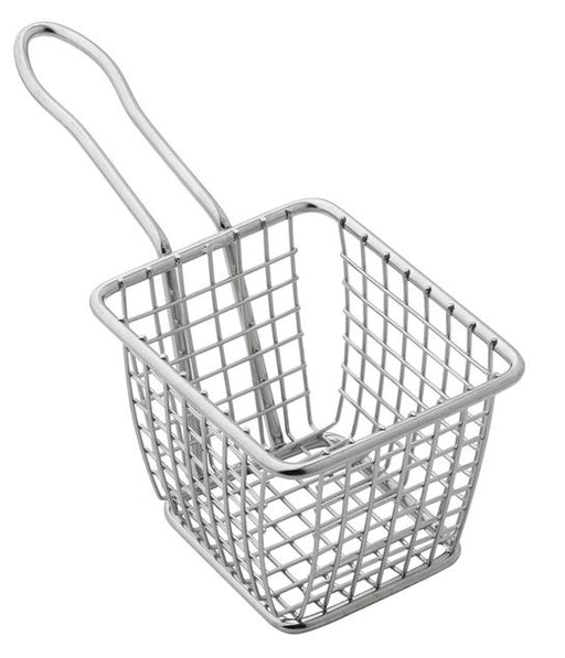 American Metalcraft FRYS443 Mini Square Stainless Steel Fry Basket Server*