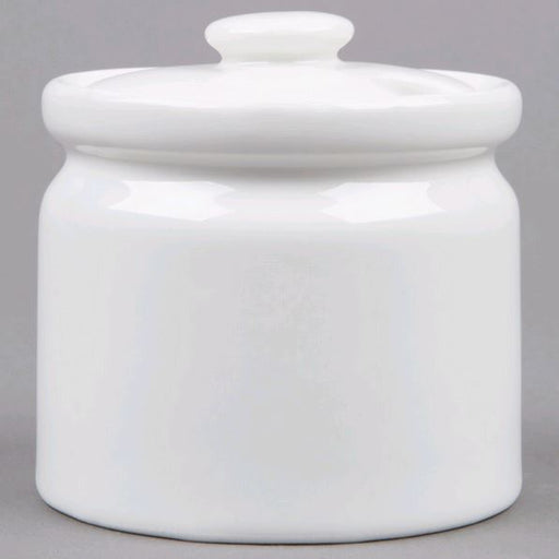 American Metalcraft SUGPOT3 7 oz. Porcelain Sugar Bowl with Lid*