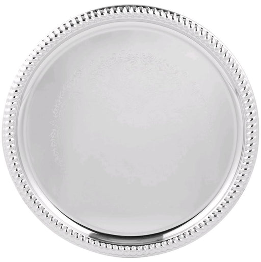 "Vollrath Odyssey 14"" Round Chrome Plated Tray 47262"