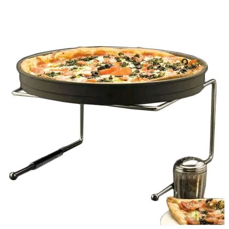 "American Metalcraft 190039 7""H Chrome Plated Steel Pizza Stand*"