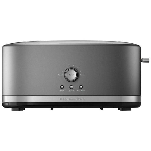 4 Slice Long Slot Silver Toaster