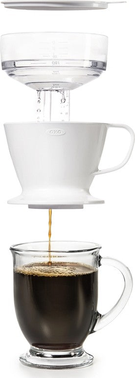 OXO - 12 oz Pour-Over Coffee Dripper w/Water Tank 11180100G