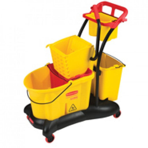 FG778000YEL - WaveBrake® 35 QT Mopping Trolley Side Press, Yellow