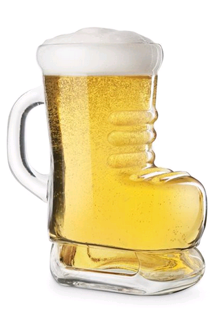 Final Touch Hockey Skate Beer Glass