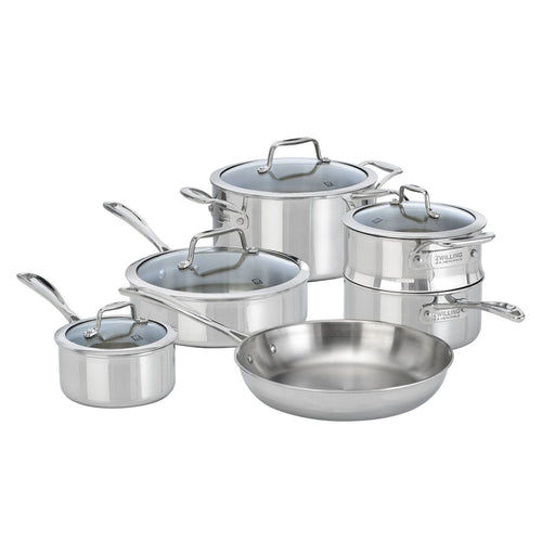 ZWILLING Vista Clad 10 Piece 18/10 Stainless Steel Cookware set