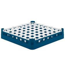 "Vollrath 52784 Signature Full-Size Royal Blue 49-Compartment 3 1/4"" Short Plus Glass Rack"