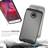 TUDIA Slim-Fit HEAVY DUTY [MERGE] EXTREME Protection / Rugged but Slim Dual Layer Case for Motorola Moto Z2 Play