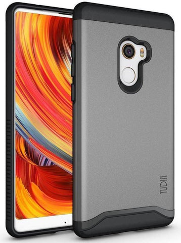 TUDIA Slim-Fit HEAVY DUTY [MERGE] EXTREME Protection/Rugged but Slim Dual Layer Case for Xiaomi Mi Mix 2