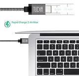 TUDIA Nylon Braided USB 3.1 USB-C to USB Type A Male Data & Charging Cord 1m/3.3ft