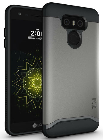 TUDIA Slim-Fit HEAVY DUTY [MERGE] EXTREME Protection / Rugged but Slim Dual Layer Case for LG G6