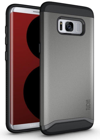 TUDIA Slim-Fit HEAVY DUTY [MERGE] EXTREME Protection / Rugged but Slim Dual Layer Case for Samsung Galaxy S8 Plus (2017 Release)